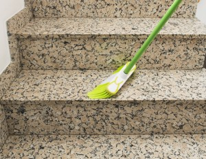 Treppe fegen