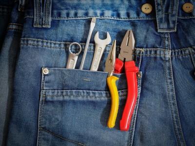werkzeug in hosentasche
